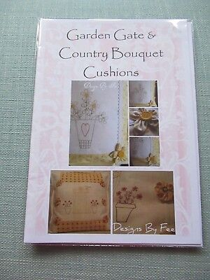Garden Gate & Country Bouquet Cushions Quilt Sewing Pattern Designs By Fee