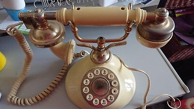 Vintage Betacom Babt Regal French Retro Home Phone Cream And Corded