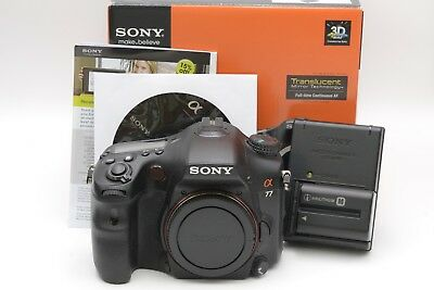 Sony Alpha Slt-A77 Dslr Body, Boxed, Batt., Charger, Cd *no Is*, Low Usage