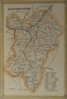 Original Roxburghshire Parish Map By Fullarton - Original Colour