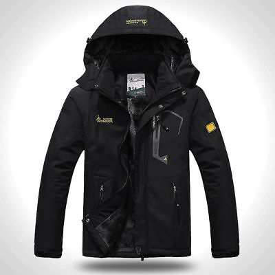 Men's Warm Thicken Jacket Coat Outdoor Hiking Ski Climbing Outwear Windproof