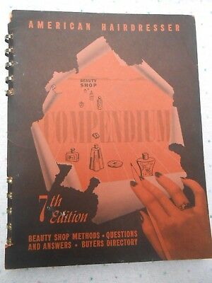 1940s HAIR American Hairdresser Beauty Shop Compendium 7th Ed HAIRSTYLE GUIDE