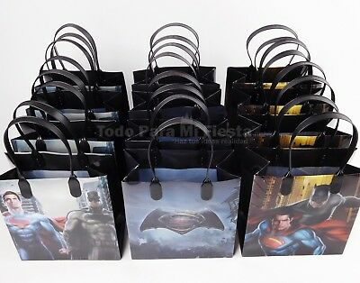 Batman Vs Superman Birthday Party Favors Goody Gift Candy Bags Loot Dawn Justice
