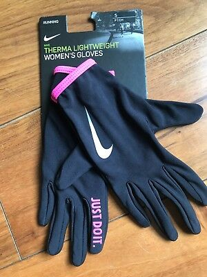Nike Therma Lightweight Womens Running Gloves Small