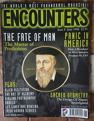 Encounters Paranormal Magazine Issue 8 June 1996 - Nostra Damus, Alien Invasion