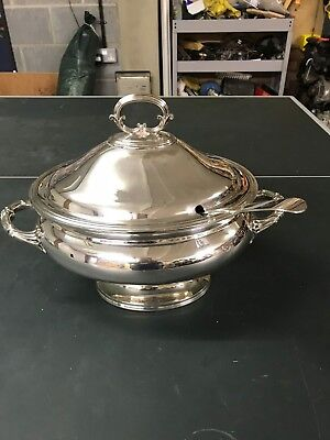 An Extra Large  Silver Plated Soup Tureen