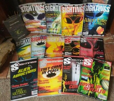 BUNDLE 13x SIGHTINGS UFO MAGAZINE ALIEN PHENOMENA Vol 1/1-12 - 2/1 POSTER + BOOK