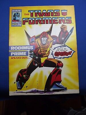 Marvel Transformers UK Weekly Comic #113 1987 1st Appearance of Deaths Head RARE