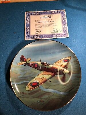 Aviation Collectible - Supermarine Spitfire Plate - New
