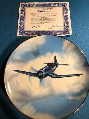 Aviation Collectible - F4U Corsair Plate - New