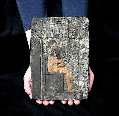 ANCIENT EGYPT ANTIQUE Egyptian plaque Pharaoh Akhenaten (1350-1100 BC
