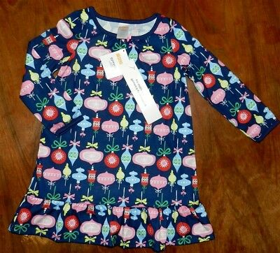 Nightgown Christmas Ornaments Gymboree Gymmies Girl size S 5-6 New