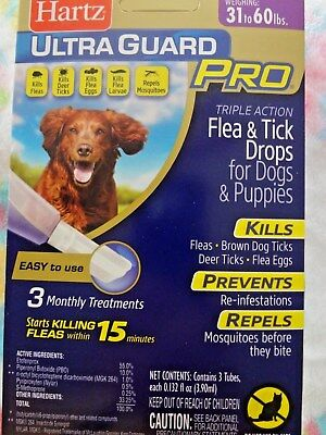 Hartz UltraGuard PRO Flea & Tick Drops For Dogs & Puppies 31-60lbs