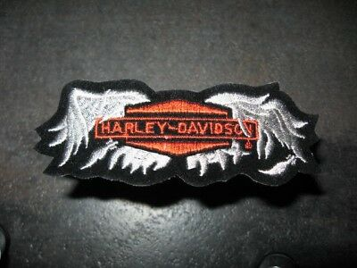 "HARLEY DAVIDSON Broken Wing 4""x1.25"" Patch...Free Shipping.."