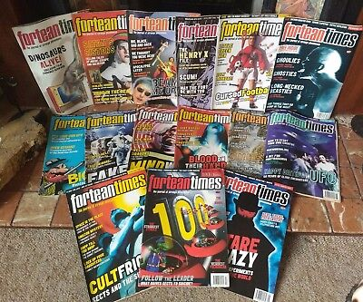 Job Lot of 15 Fortean Times Magazines 1996-97 -  FT 86 -101 includes 100th issue