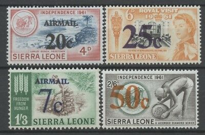 No: 59912 - SIERRA LEONE - LOT OF 4 OLD STAMPS w. OVERPRINTS - MNH!!