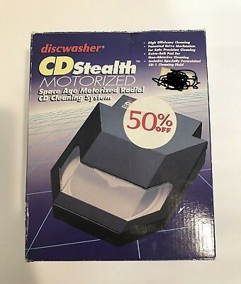 Disc Washer Cd Stealth Motorized Cleaning System