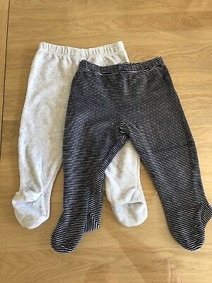 M&S Baby Boy Joggers Crawlers Velour 6-9 Months IMMACULATE