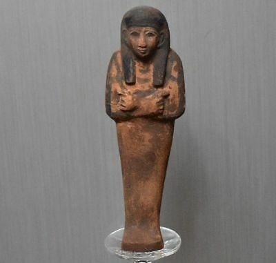 ANCIENT EGYPT ANTIQUE EGYPTIAN brown faience USHABTI 300-1500 BC)