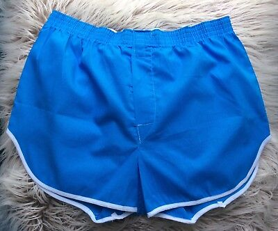 Vintage LEE Blue and White Mens Underwear Boxers Size 36