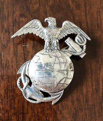 WWII Sterling Marine Corps USMC Officer EGA Home Front Sweetheart Pin Danecraft
