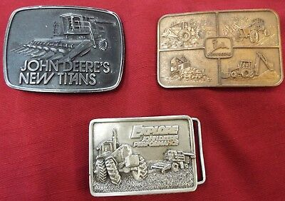 John Deere LE 1978 New Titans & JD Explore LE 1984 & JD Gold Color Belt Buckles-