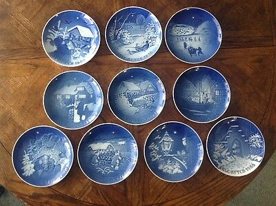 Bing Grondahl Jule After Christmas Plates - Lot of 10