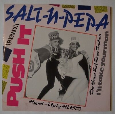 "Salt-N-Pepa - Push It Remix - Maxi Single 12"" - Vinyl - High Fashion - 110028.6A"