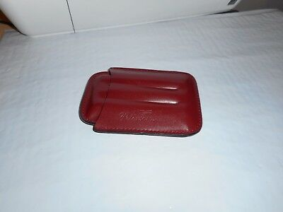Peterson's Brown Leather 3 Finger Cigar Case Taiwan