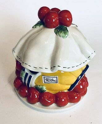 Life Is Just A Bowl of Cherries Dept 56 Jam Pot Ceramic Covered Jar