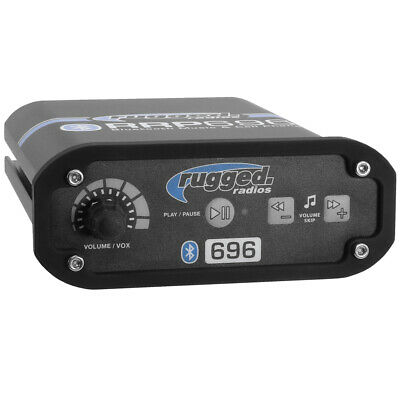 Rugged Radios RRP696 VOX & Bluetooth Streaming - Control Your Music On Intercom