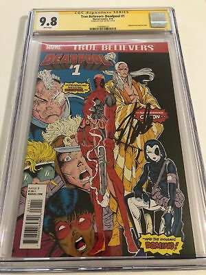 True Believers Deadpool 1 Cgc Ss 9.8 Stan Lee New Mutants 98 Homage Deadpool