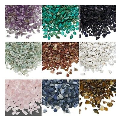 50 grams Undrilled GEMSTONE CHIPS for Mosaics Embellishment Inlays ~ Plus GLUE