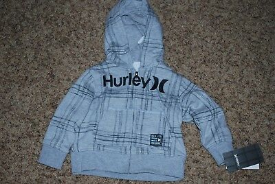 Nwt Hurley Hoodie Zip Up 18 Months  Infant Toddler Baby Child Boys
