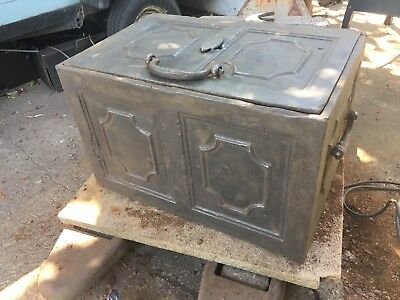 Cast iron victorian safe/ Strong box.