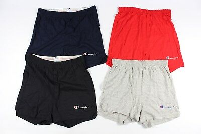 Vtg New 80s CHAMPION Mens Medium Lot of 4 Spell Out Cotton Dad Shorts Red Blue