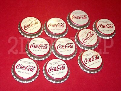 10 COCA-COLA COKE 1960's COLA VINTAGE ORIGINAL SODA POP CORK UNUSED BOTTLE CAP