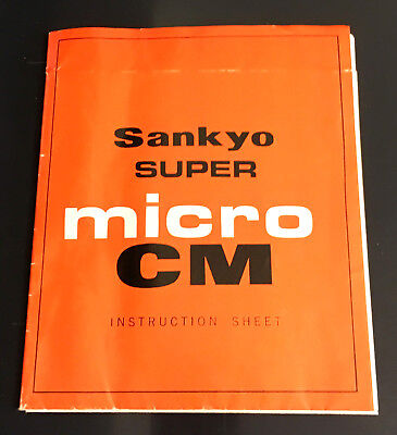 Original SANKYO Super Micro CM Instruction Leaflet