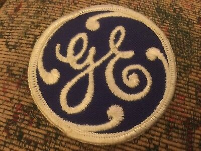 GE General Electric Patch Blue and white embroidery