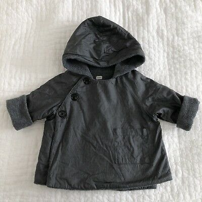 Makie Clothier Baby Kids Gasa Jacket Charcoal 12/18 Months Used Condition