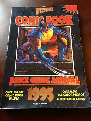 1995 WIZARD COMIC BOOK Price Guide Annual w/ X-Men Trading Cards