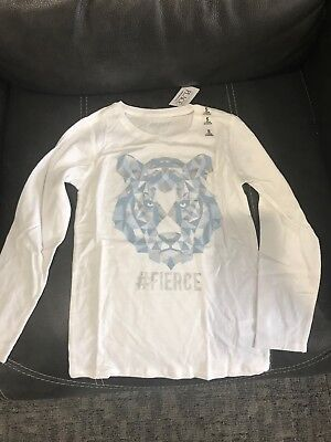 NEW the childrens place girls size s 5/6 white long sleeve