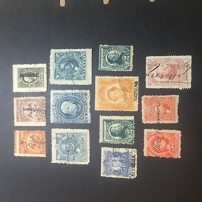 Mexico 1800's. Documentary Stamps X 10+2 Hand.can.timbre Mexico. Superb Old Lot.