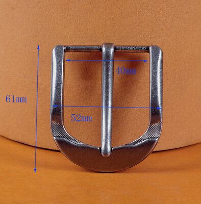 Metal Square Single Prong Pin Belt Buckle Fits 40MM Tongue Leather Belts Straps