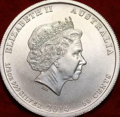 Uncirculated 2014 Australia 50 Cents Silver Foreign Coin