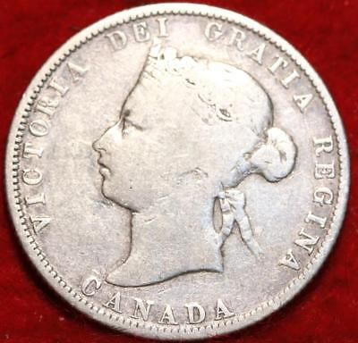 1872-H Canada 25 Cents Silver Foreign Coin