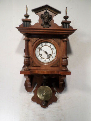 Signed FMS Beautiful German Free Swinger Wall Clock With Hour/Half Hour Strike