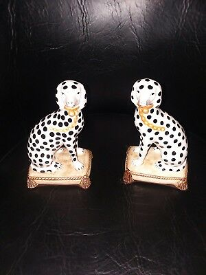 Vintage Fitz and Floyd Dalmatian Bookends Fitz and Floyd Ceramic Dogs...