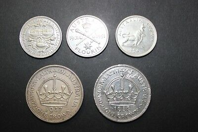 1938 and 1937 crowns 1927 1951 1954 Florins