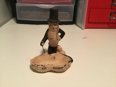 Vintage ~ Cast Iron ~ Mr Peanut ~ Counter Top Serving Display ~